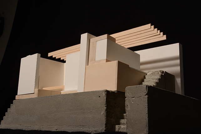 Photograph of architectural model