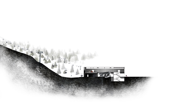Rendering of section drawing