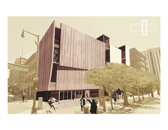 Rendering of exterior design