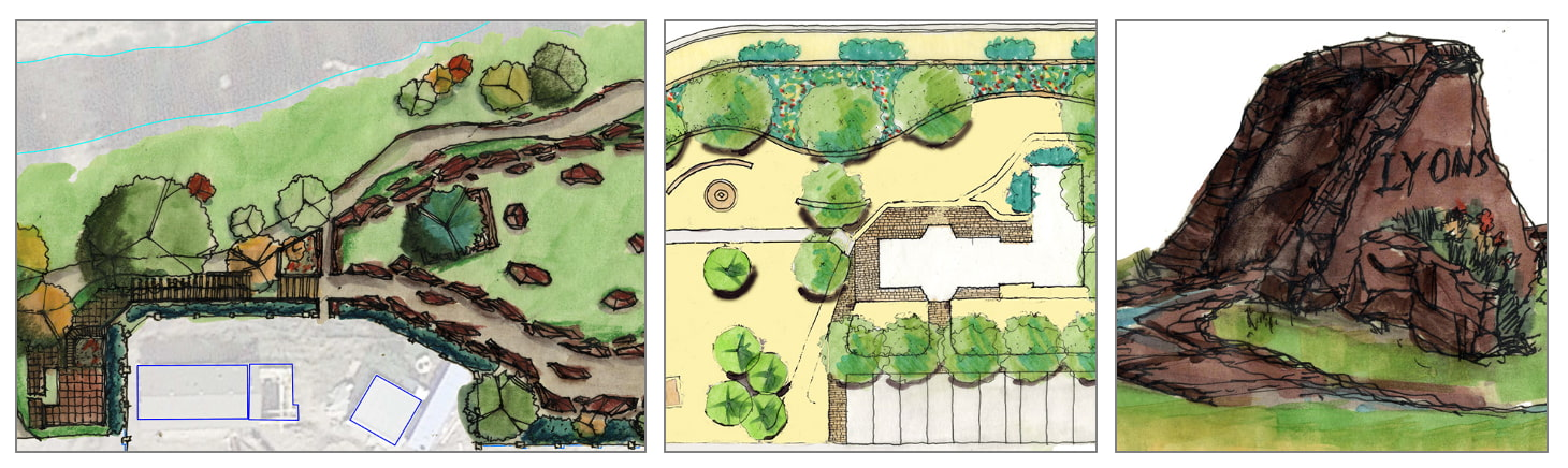 Lyons Entry, Depot and River Landscape Concepts