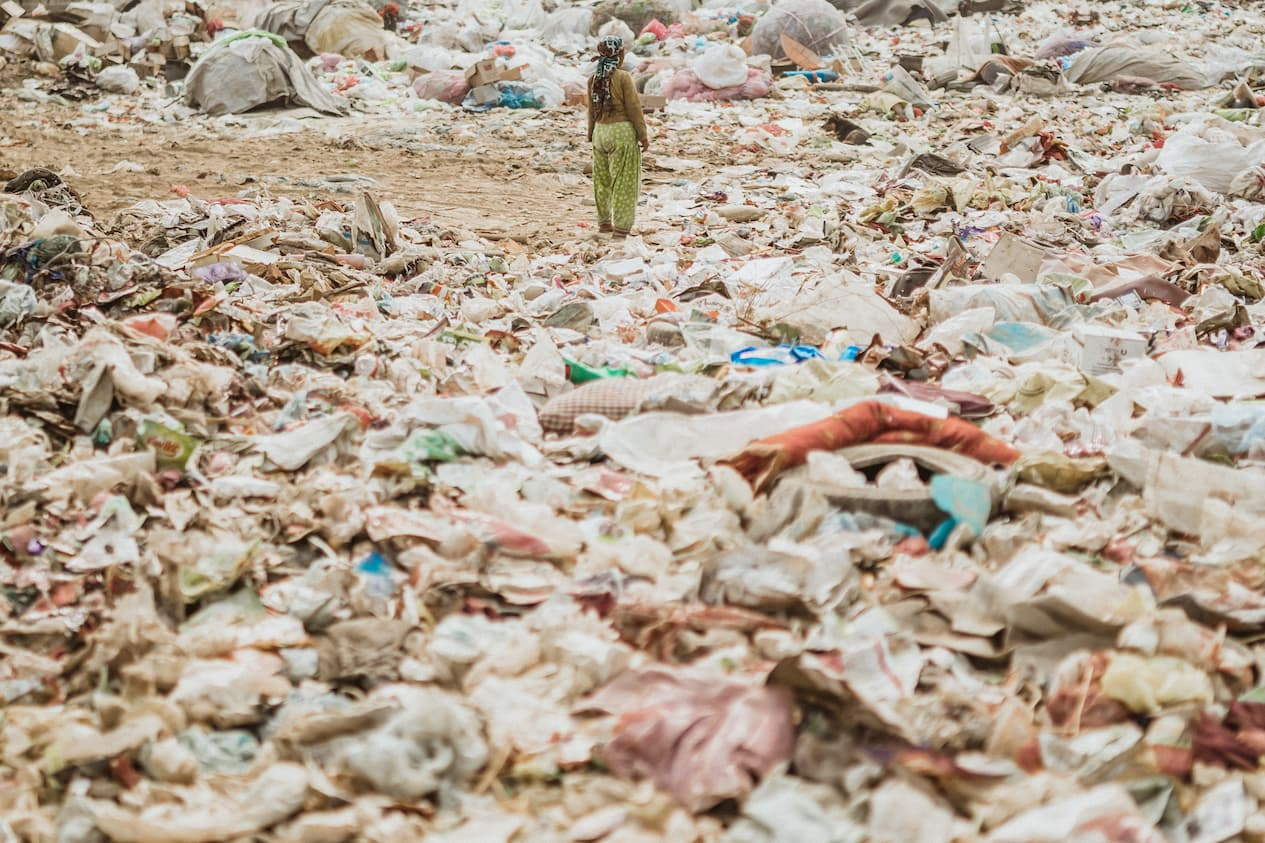 Image Showing Waste Management Issues in Nepal