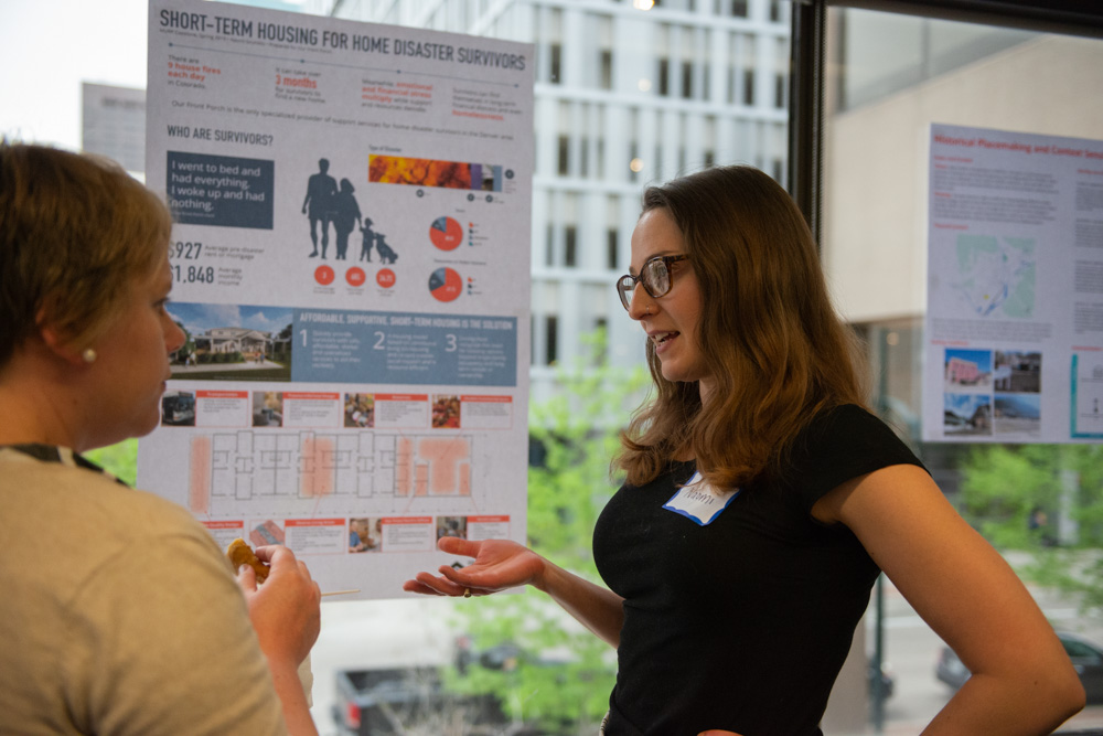 A MURP student presents their research during the 2019 Capstone Celebration.