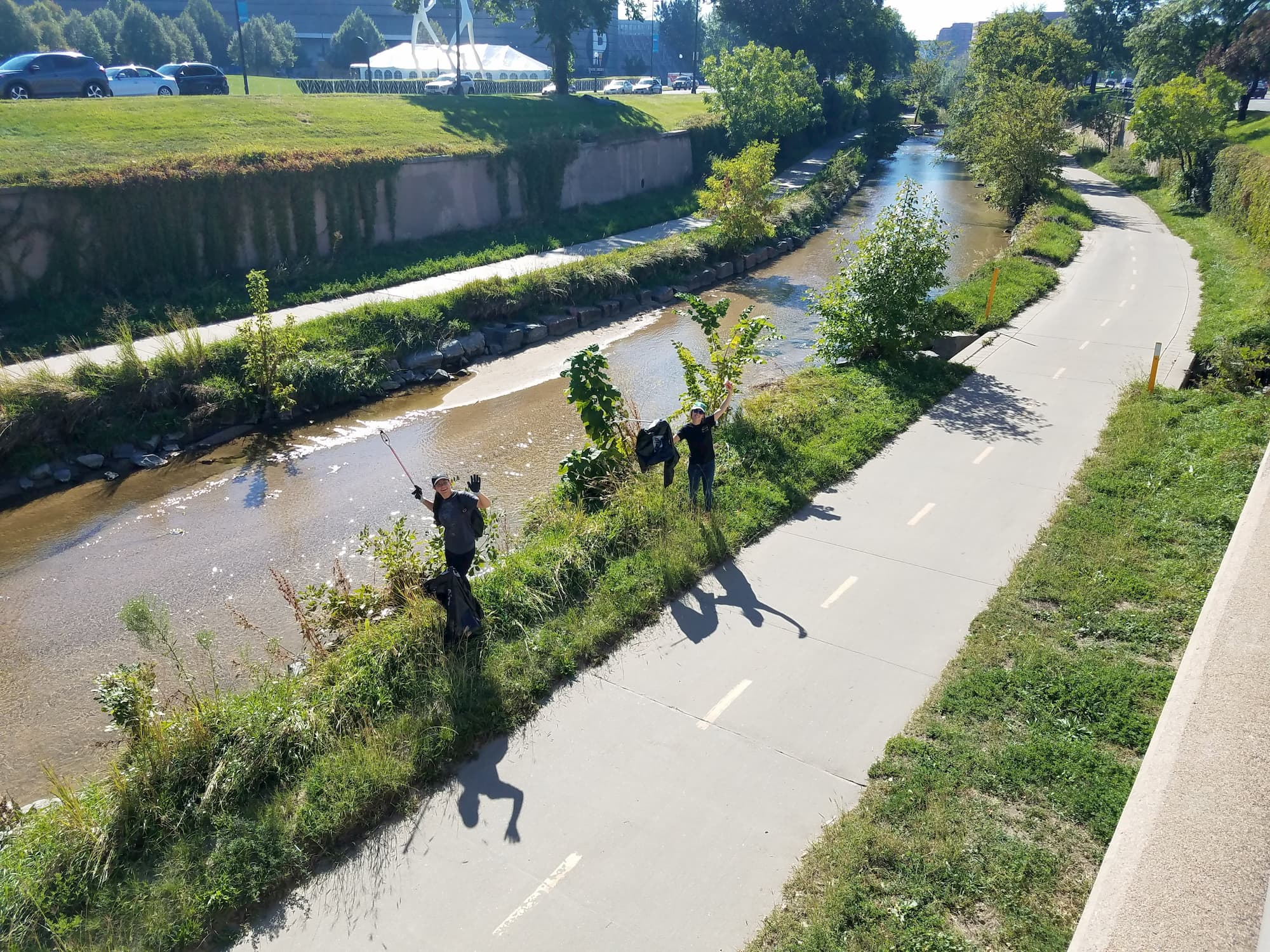 WTS Students Participate in a Clean Up of Cherry Creek
