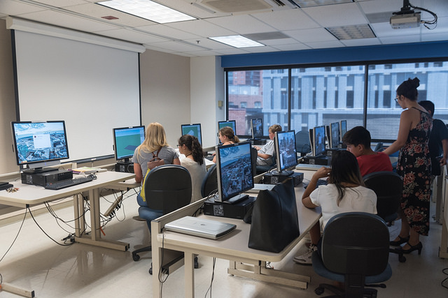 Computer Lab with students at computers