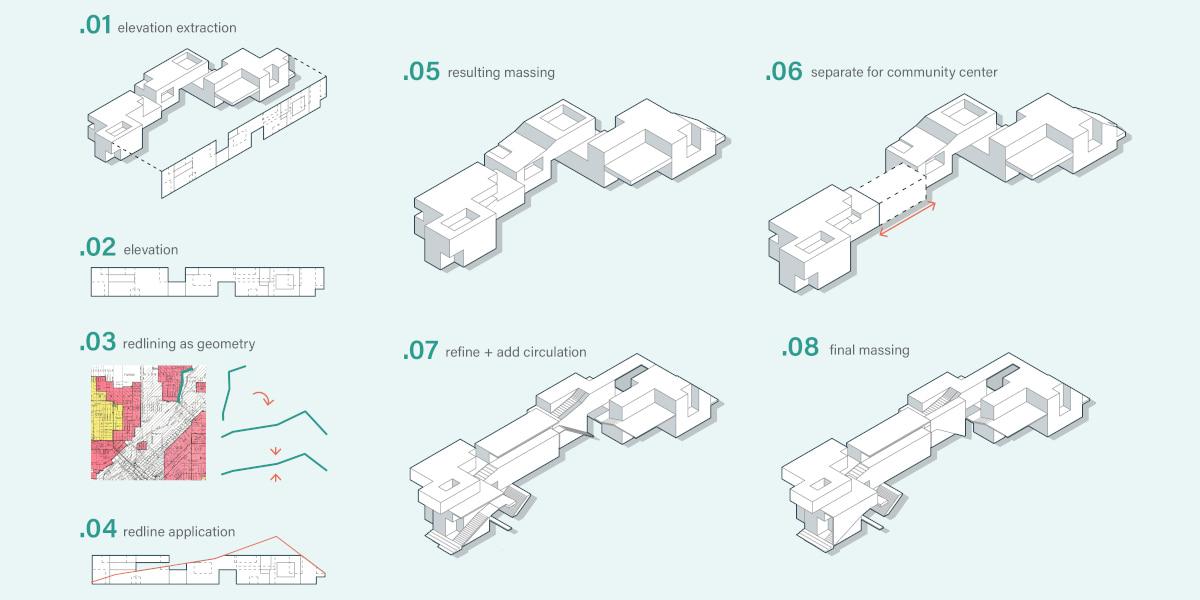 Illustration of massing diagram