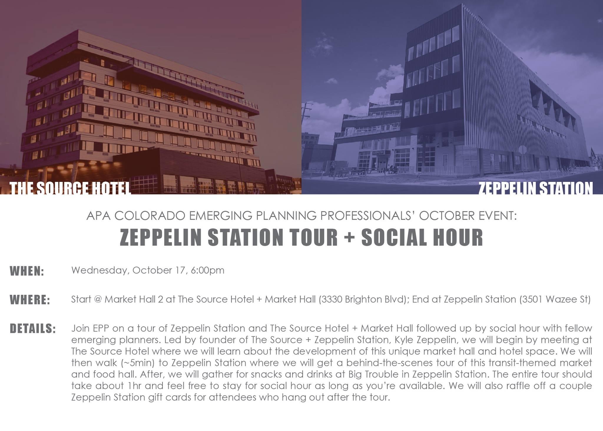Flyer for the APA/EPP Zeppelin Station Tour Event